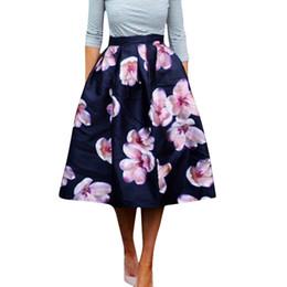 High Waist Midi Floral Skirt Online | High Waist Midi Floral Skirt ...