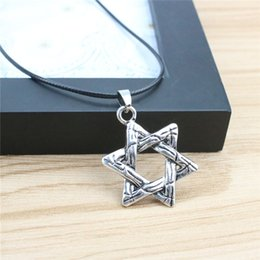 silver star pendant necklace NZ - Vintage Fashion Men Star Necklaces & Pendants Silver Plated Alloy Antique Color Necklaces Jewelry For Men Gift