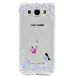 China Transparent TPU Cover For Samsung Galaxy J710 J7 2016 Case Fashion Tower bike Butterfly Girl Feather Design Mobile Phone Cases cheap samsung galaxy j7 mobile covers suppliers