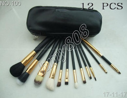 Chocolate Lowest Price Canada - FREE SHIPPING lowest price HOT NEW Professional 12 Pieces Makeup Brushes + leather Pouch