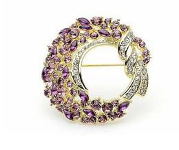 $enCountryForm.capitalKeyWord Canada - 2016 New Fashion 18K Gold Plated Flower Crystal made with Swarovski Elements Brooth for Women Health Jewelry NIckel Lead Free