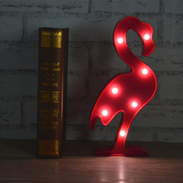 PineaPPle table lamPs online shopping - 3D LED Flamingo Lamp Pineapple Cactus Light Romantic Night Lamp Table Lamp Marquee LED Nightlight Home Christmas Decoration