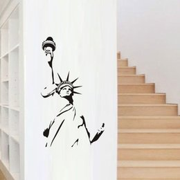 DCTOP Statue Of Liberty Wall Sticker New York City Symbolic Living Room  Decorative Wall Decal Vinyl DIY Home Decor Statue Liberty Wall Stickers  Promotion