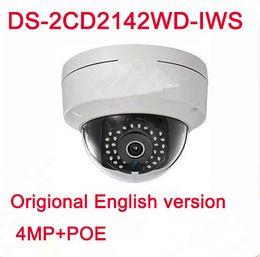 Outdoor Wireless Wifi Ip Camera Hd Canada - 4MP POE IP WIFI Wireless dome camera HD DS-2CD2142FWD-IWS replace DS-2CD2135F-IWS ds-2cd2132f-i DS-2CD2135F-IS ds-2cd2132f IWS