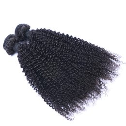 KinKy curly can dyed online shopping - Indian Virgin Human Hair Kinky Curly Unprocessed Remy Hair Weaves Double Wefts g Bundle bundle Can be Dyed Bleached