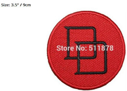 "devil patches UK - 3.5"" Dare Devil marvel comics Movie TV Show Series Halloween Costume Embroidered iron on sew On patch Tshirt TRANSFER"