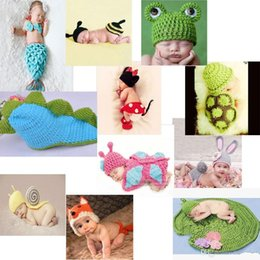 crochet baby sets animals Australia - Baby Newborn Nursling Cap Photo Photography Props Hats Costume Handmade Crochet Knitted Set Cartoon Animal Beanie Infant Outfits Mix Styles