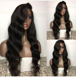 Discount hairstyles for long hair bangs - Brazilian Human Hair Glueless Lace Front Wigs Full Lace Human Hair Wig With Bang for black women