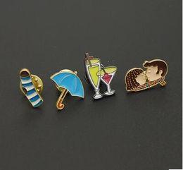 $enCountryForm.capitalKeyWord Australia - Japanese cartoon cute enamel Brooch Student jewelry Socks umbrella cups drop glaze Brooch Pins Badge Pinback Button Corsage Gift