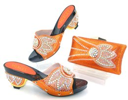 Chinese  2017 New Arrival African Woman Sandals Shoes And Bag Rhinestone Fashion Italian Shoes And Bag Set Free Shipping AS1-12 manufacturers