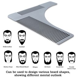 $enCountryForm.capitalKeyWord NZ - Beard Comb Styling Tool Shaving Handmade Cut Hair Molding Trim Template For Free Shipping