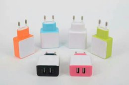$enCountryForm.capitalKeyWord Canada - Dual USB Wall Charger 5V 2.4A Real Aaapter Charger US EU UK Plug IC Power For Smart phone 100pcs lot