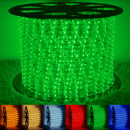 Wholesale High bright led 2wire round rope light 100meters waterproof LED Flexible Rope Light Flex PVC Disco Bar Pub Christmas Party LED Strip Lights