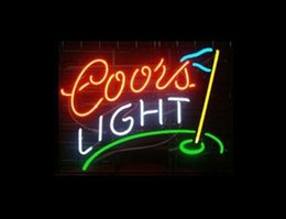"$enCountryForm.capitalKeyWord NZ - COORS LIGHT GOLF FLAG REAL Glass Neon Light Sign Display Pub Club 17""x14"""