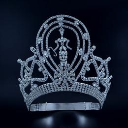 Театрализованное короны диадемы лагер регулируемая Мисс театрализованное победитель Королева свадьба Принцесса украшения для волос для партии выпускного вечера показывает головной убор Mo134