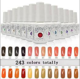 Discount gelish gel nail polish colors - 2017 New arrival upgraded 243 colors Harmony gelish SOAK-OFF GEL POLISH Nail Gel 100 pcs lot DHL free