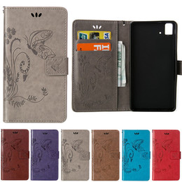 case for samsung g313 NZ - For Samsung G850 G313 G350 G550 S7392 I9060 9082 E5 E7 ON7 Embossed Butterfly Purse Holster Insert Cards Luxuru Leather Case Cover