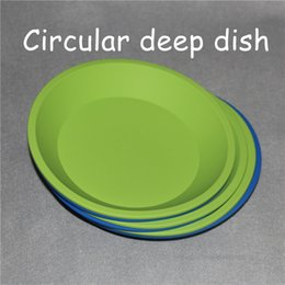 """$enCountryForm.capitalKeyWord NZ - 2pcs circular silicone tray Deep Dish Round Pan 8""""X8"""" Non Stick Silicone Containers Concentrate Oil Rigs BHO FDA silicone tray containers"""
