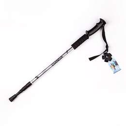Wholesale Outdoor Sports Climbing Mountaineering Accessory Crutch Camping Hiking Pole Walking Telescopic Stick Cane Trekking Skiing Rod