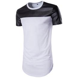 Venta al por mayor de 2019 de moda de cuero camisetas para hombre diseñador de la marca camisetas de manga corta del verano Pop T Shirt al por mayor