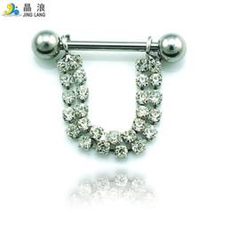 $enCountryForm.capitalKeyWord NZ - New! DIY Wholesale High Quality Fashion Silver Surgical Steel Semicircle Nipple Rings For Women Body Jewelry