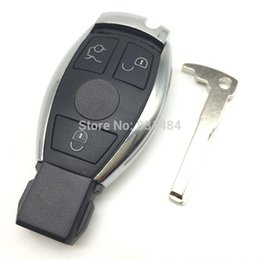 mercedes smart key shell Canada - New style key cover shell for Mercedes benz 3 buttons smart car key case with battery and blade fob selling logo included