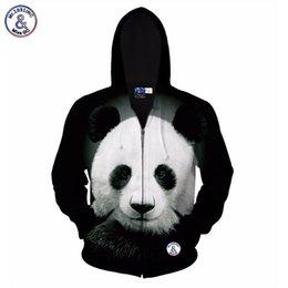 China Hip Hop Autumn winter jacket for men women hoody 3d printed big animal panda hooded hoodies 3d sweatshirts tops cheap hoodies hoodie panda suppliers