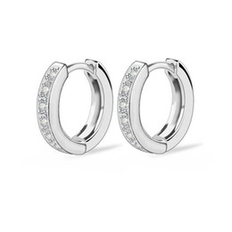 $enCountryForm.capitalKeyWord NZ - New Models Classical Style Platinum Plated Shiny Zircon Circle Brass Hoop Fashion Earring For Women Free Shipping