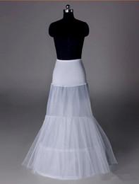 Ingrosso 2017 New White Petticoats 2 Hoop 2 Strati Abito da sposa formale Sottogonna Crinoline Small Fishtail Corset Accessori da sposa