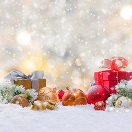 spray painted backdrop 2019 - Merry Xmas Bokeh Photography Backdrops Polka Dots Colorful Christmas Balls Gift Boxes Winter Snow Happy New Year Photo S