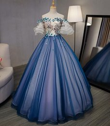 100% real 18th century royal court blue barcoque cosplay ball gown medieval  dress Renaissance gown queen Victorian Belle Ball gown eb582b7caac7