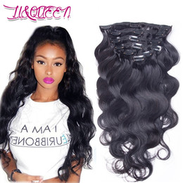 Human Hair Mongolian Clip In Extensions Natural Black Body Wave 12 28 Inches From Liqueen Inexpensive