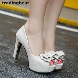 Bridesmaids slip dresses online shopping - Fashion Women Thick High Heels Platform Peep Toe Office Shoes Wedding Bridesmaid Size to