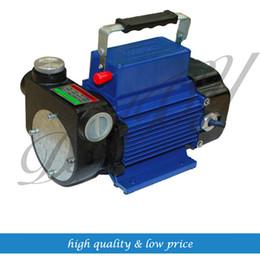 PumP meter online shopping - 80l min Electric Diesel Oil Pump Meter Self Priming Transfer Fuel Cast Iron