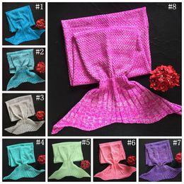 MerMaid hands online shopping - Adult Mermaid Blankets cm Tail Fish Blankets Women Sleeping Bag Bedding Warm Soft Handmade Knitted Sofa Blanket OOA2882
