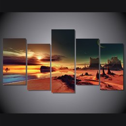 $enCountryForm.capitalKeyWord UK - 5 Pcs Set Framed HD Printed Sunset Seaview Painting on canvas room decoration print poster picture canvas Free shipping ny-1645