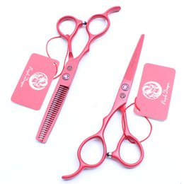 "$enCountryForm.capitalKeyWord NZ - Z8001 5.5"" 440C Purple Dragon Red Professional Human Hair Scissors Barbers' Cutting Thinning Scissorss Left Hand Scissors Salon Style Tools"