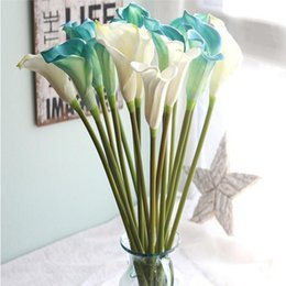 Barato Lírio, Flor, Mão, Buquet-Artificial Calla Lily Flor Simulação Real Touch PE Flores Bouquet de Mãos Flores Wedding Decoration Fake Flowers Party Supplies