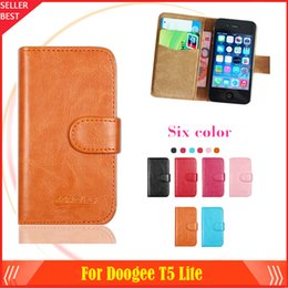$enCountryForm.capitalKeyWord Australia - New arrrive 6 Colors Doogee T5 Lite Phone Case Dedicated Leather Protective Cover Case SmartPhone with Tracking