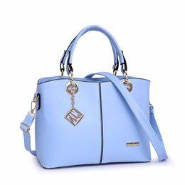 Chinese  Spring Autumn Women Handbag Fashion Leather Women Big Shoulder Bags 7 Color Zipper Ladies Bag Bolsas Femininas manufacturers
