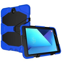 waterproof dustproof case NZ - New Version Hybrid Armor Waterproof Shockproof Dustproof Kids Safe Stand silicon Case for ipad ipad2 3 4 Cover For ipad234 Shellpen+pen