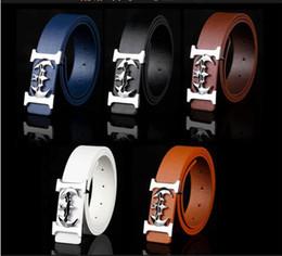 $enCountryForm.capitalKeyWord NZ - 1PCS SUMMER Mens women MAN smooth buckle belt metal Animals crown buckle pu trouser belt Fashion Accessories Leather belt DROP shipping
