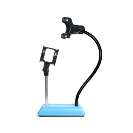 Универсальный студийный микрофон микрофон стол настольная подставка адаптер с зажимом Finefun мобильный телефон живой держатель кронштейн Гибкий держатель