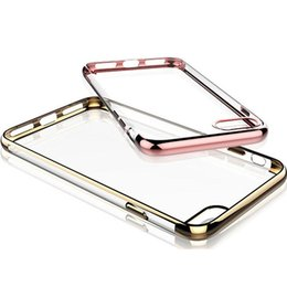 Crystal Clear Phone Cases NZ - Soft TPU Electroplating Ultral Thin Cell Phone Case Clear Rubber Plating Crystal Phone Back Cover For Iphone 7 7plus Iphone 5 5s 6s 6plus