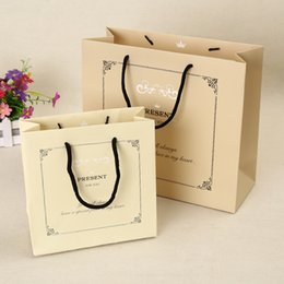 edcde661b1e Paper bags for gift in Pantone color print Custom packaging bags with  handles cotton Paper shopping bags customized silver foil logo stamp