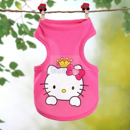 Chinese  Cat Summer Apparel Costume GRANTPET Pet Dog Clothes Shirt Vest Colorful Stitching Cartoon Design manufacturers