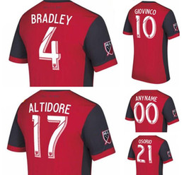 3a382c1e6 ... 2017 Toronto FC home Soccer Jersey 17 18 10 GIOVINCO Red Soccer Shirt  Customized MLS football ...