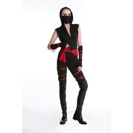 Wholesale samurai costumes online – ideas new Japan Samurai Women Lady Girls Cosplay Costumes party Fancy Dress Japanese Clothes Halloween Black Role Play Stage Dance Wear