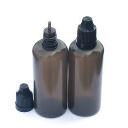 plastic liquid UK - LDPE 60ML Black Needle Bottle with Childproof Safety Cap and Long Thin Dropper tip E Liquid Dropper Bottle