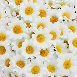 Wholesale Hoomall 100PCs Mini White Daisy Flower Artificial Silk Flowers  Party Wedding Decoration Home Decor Wedding Flowers(without Stem) Discount  Wedding ...